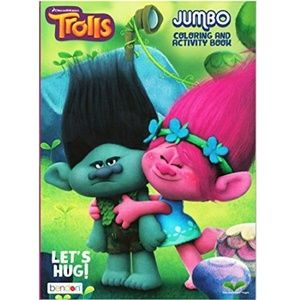 Trolls Jumbo Coloring And Activity Book Let'S Hug!